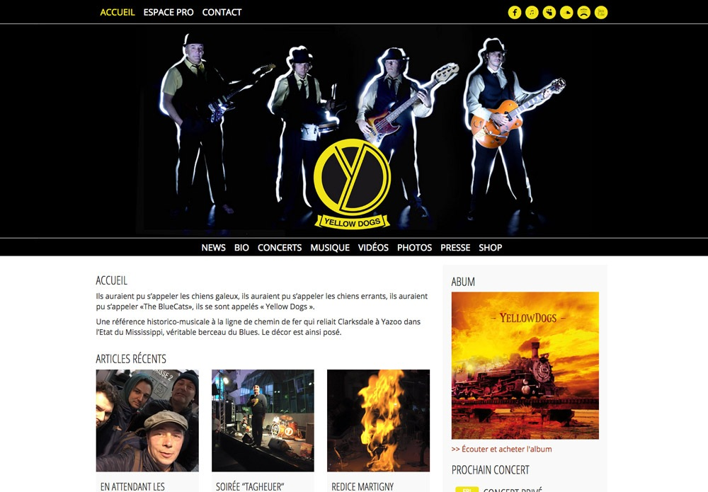 Yellow Dogs site web